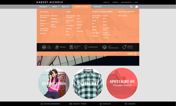 Creative Review - Harvey Nichols' new website