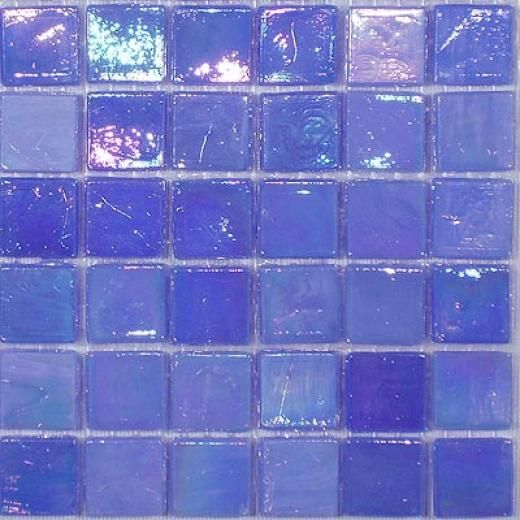Periwinkle Glass Tiles. Would love to use these in a bathroom with periwinkle & white, maybe pops of persimmon (towels, accessories)  JTL