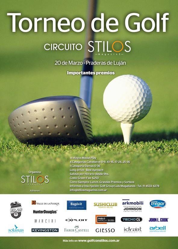 Golf con Stilos 1ra. fecha 20 de marzo en Praderas de Luján