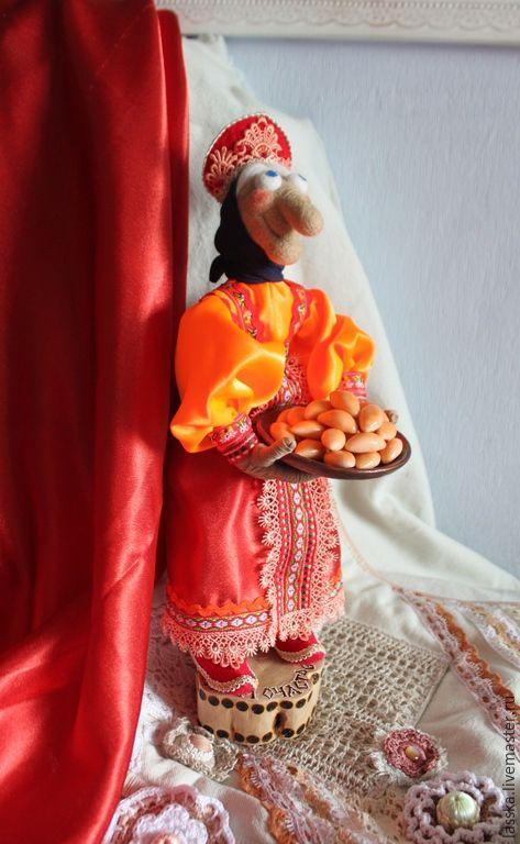 Купить Баба Яга, кукла сувенирная. - баба яга, домовой, домовенок, Домовенок Кузя