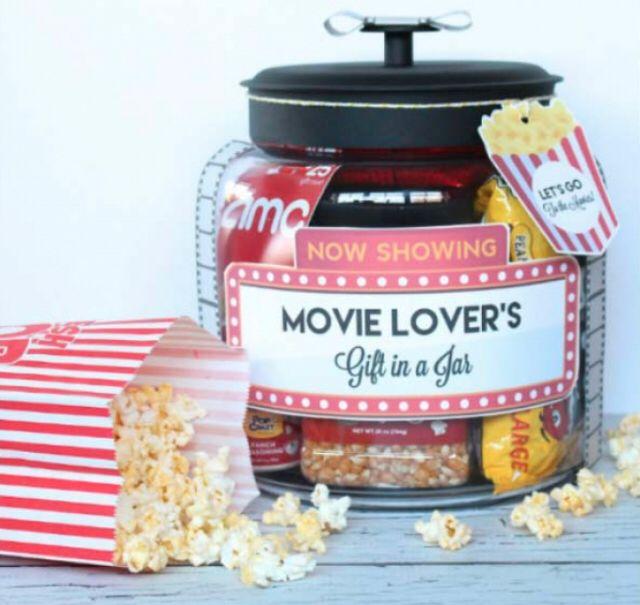 Diy Movie Gift Christmas Jar Gifts Jar Gifts Christmas Jars