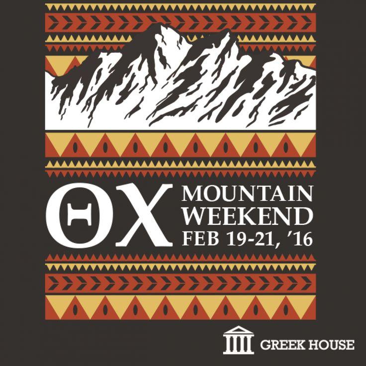 Theta Chi Mountain Weekend T-Shirt Design Gallery | Greek House | Theta Chi | Mountain Weekend | Social | Formal | Fraternity | Fratshirt | Greek Life | T-Shirt