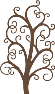 Silhouette Online Store: tall scroll tree