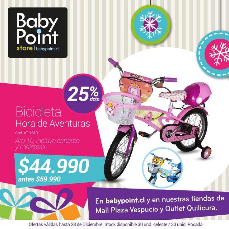 #NavidadBabyPoint Las bicicletas se roban la película en Navidad... Te invitamos a revisar este modelo en oferta ¡25% de descuento! También hay para niño en color celeste -> bit.ly/11licZx