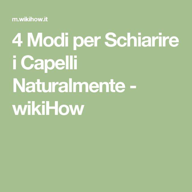 4 Modi per Schiarire i Capelli Naturalmente - wikiHow