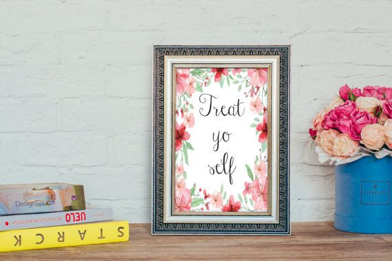 Treat Yo self sign Wedding sign printable by Papierscharmants