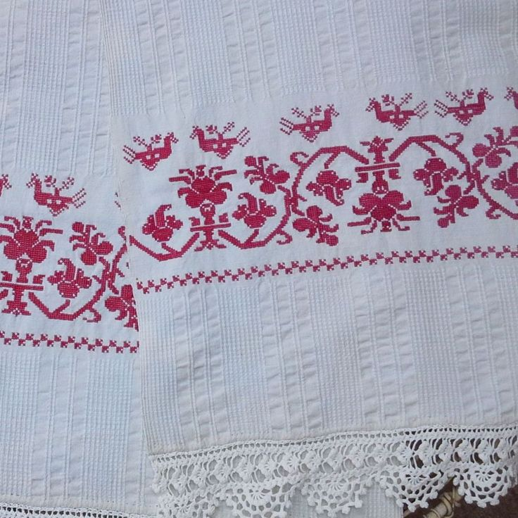 Beautifully embroidered decorative runner from Transylvania This piece was made as a dowry piece and was proabably hung on the wall in the
