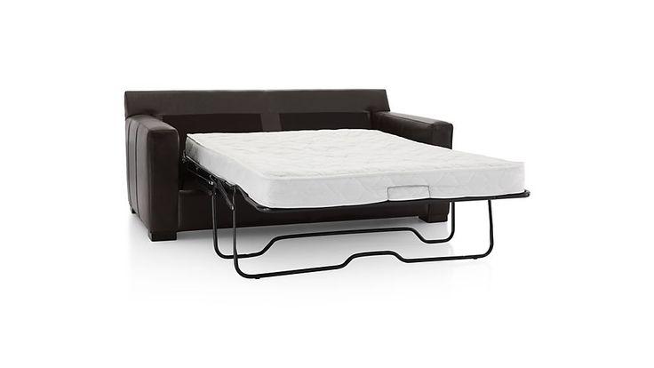 Axis II Leather Full Sleeper Sofa | Crate and Barrel