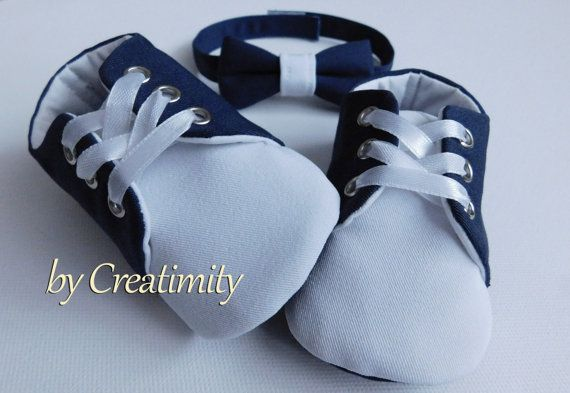 Christening baby boy shoesnavy baby boy by CreatimityElegance