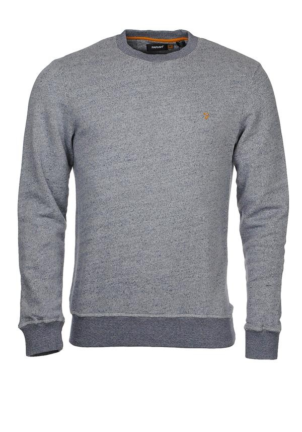 Farah Dempsey Vintage Crew Sweatshirt, Dark Indigo