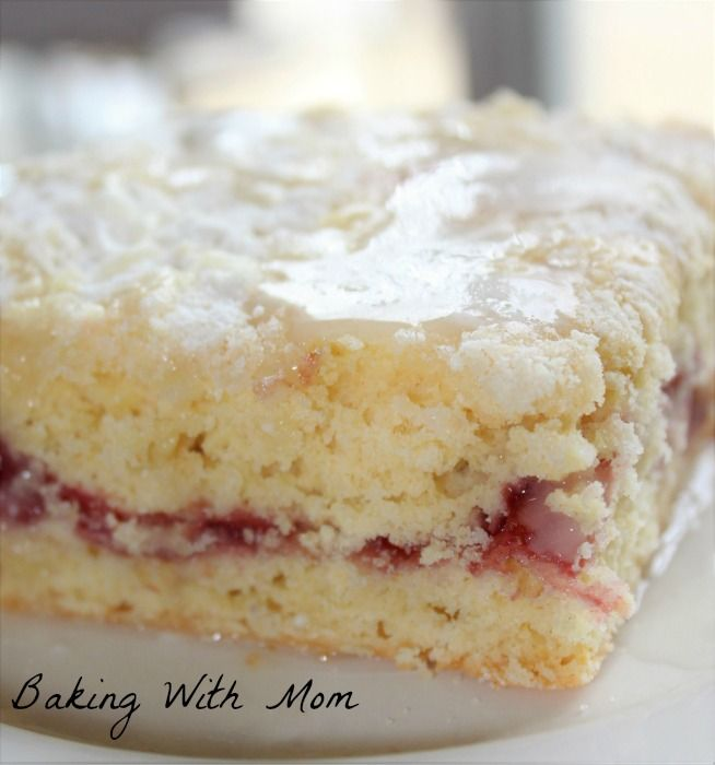 Cherry Filled Coffee Cake with cherry pie filling and a white frosting drizzled on top make for a great breakfast or brunch treat