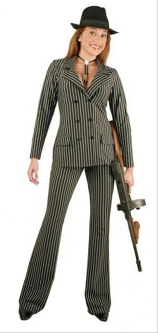 Sophisticated Gangster Moll Suit Costume - The Costume Shoppe