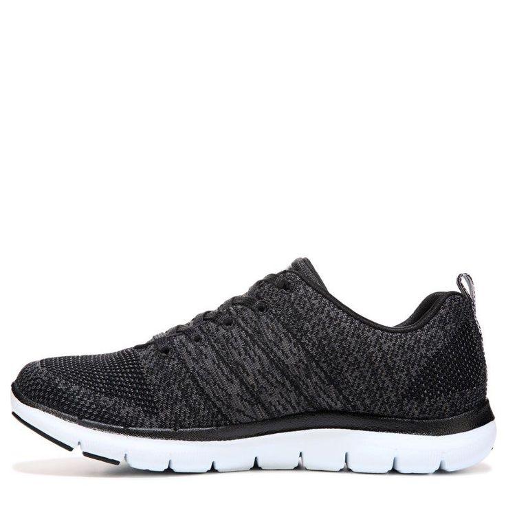 Skechers Women's Flex Appeal 2.0 High Energy Memory Foam Sneakers (Black/White) - 5.5 M