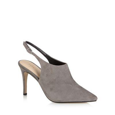 J by Jasper Conran Designer grey suede slingback high court shoes- at Debenhams.ie