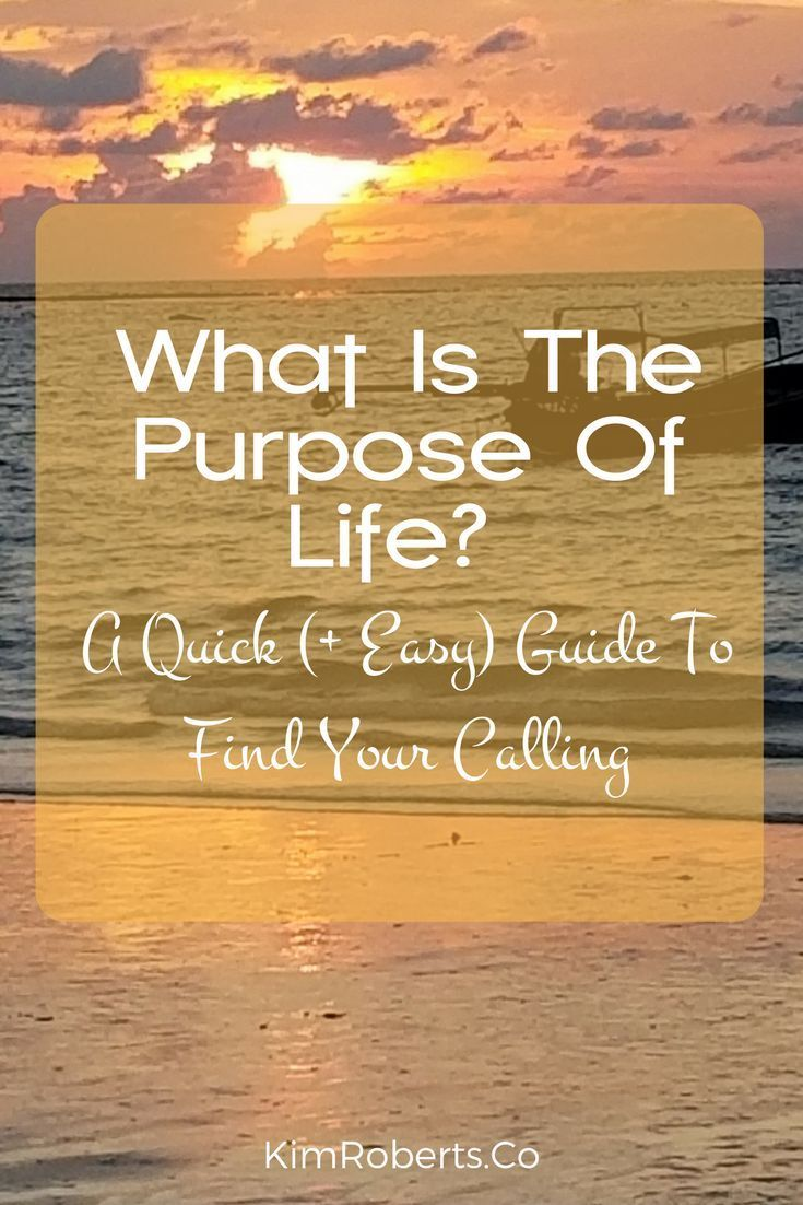 Finding and Knowing Your Life's Purpose