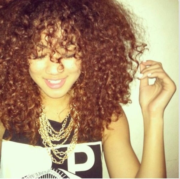 basically what my hair looks like right now.... length, curl pattern and long curly bangs - VJ