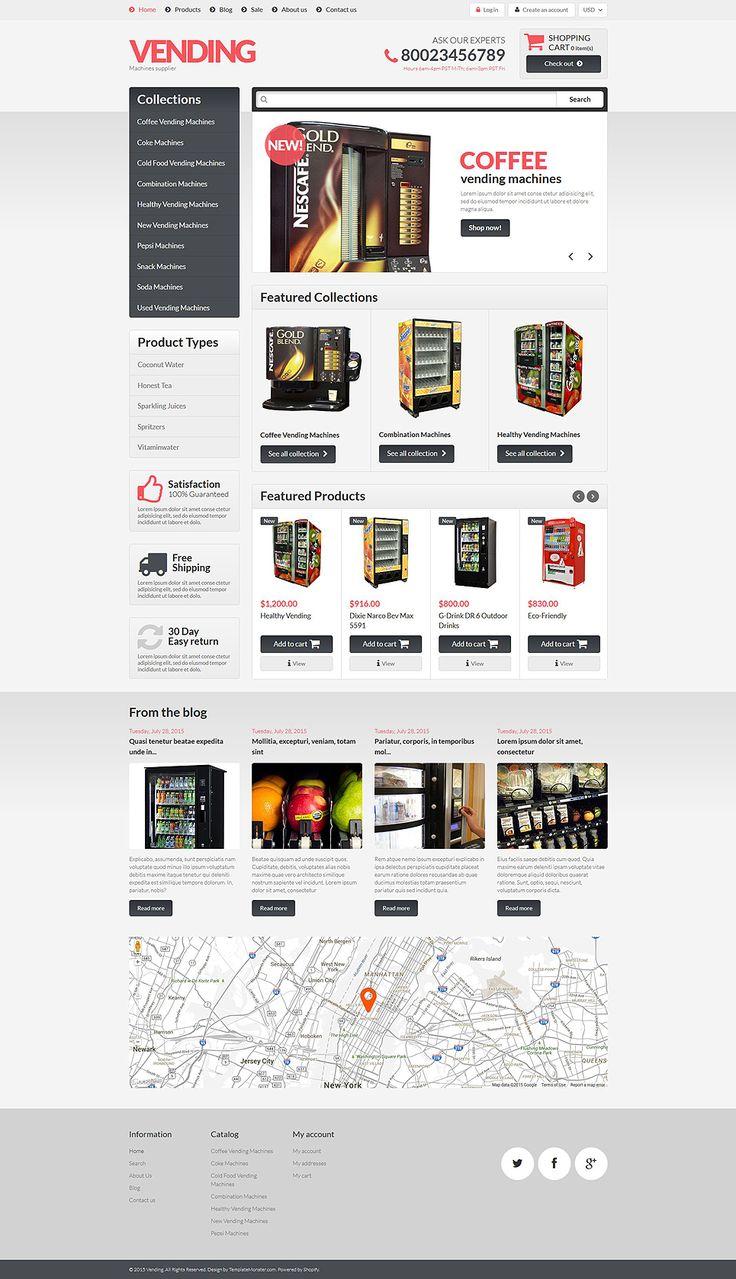 Healthy Vending Machines Shopify Theme Vending Healthy