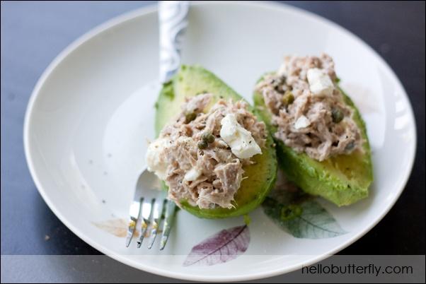 Tuna-stuffed Avocados   FOODS   Pinterest