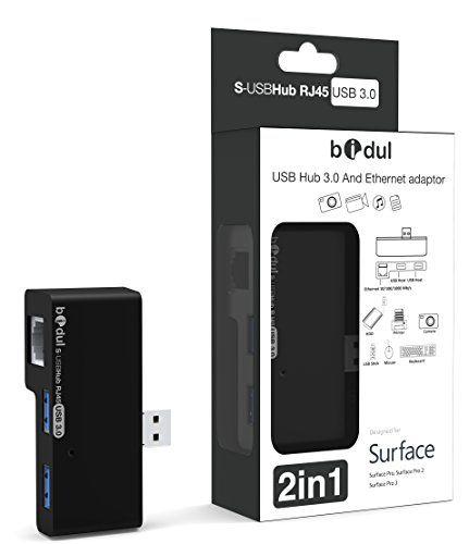 USB 3.0 HUB Lan Gigabit Ethernet / RJ45 for Surface Bidul http://www.amazon.co.uk/dp/B00OLO716C/ref=cm_sw_r_pi_dp_-O4xvb119YPFK