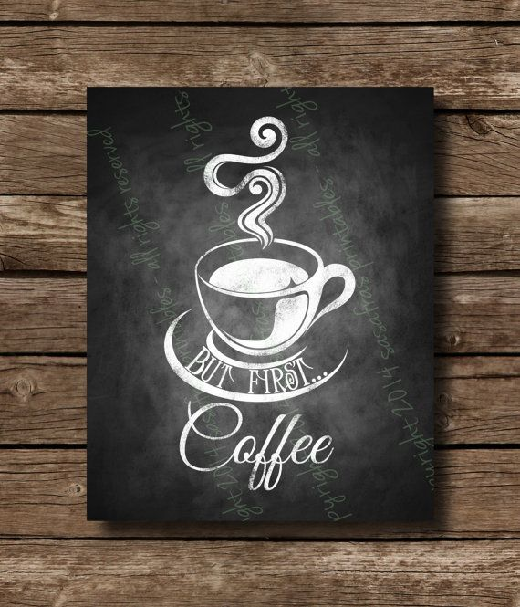 But First...Coffee Chalkboard Home or Office Sign  - DIY Download and Print - Printable File