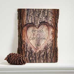 "Create lasting Wedding memories with the ""So In Love"" Personalized Basswood Plank. Find the best personalized wedding gifts at PersonalizationMall.com"