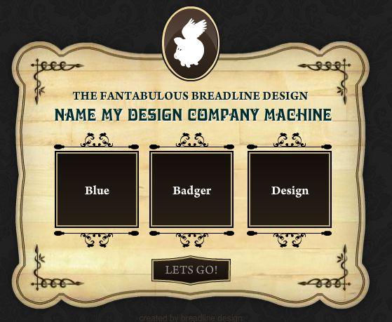 Generador de nombres creativos para empresas de diseño