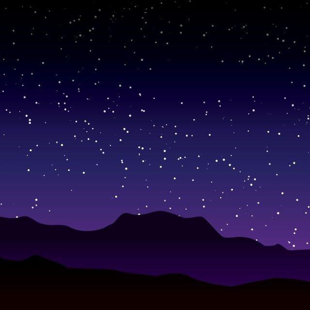 Hermosa Noche Stary Paisaje Ilustracion Vectorial Con Cielo Purpura Imagenes Predisenadas De Galaxia Resumen Noche Png Y Vector Para Descargar Gratis Pngtr Night Landscape Purple Sky Stary Night