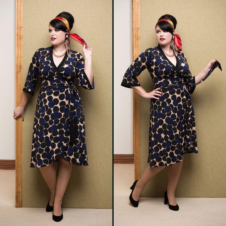 Miss Moneypenny Wrap Dress.  SHOP THE LOOK - http://sprinkleemporium.bigcartel.com/product/miss-moneypenny-wrap-dress