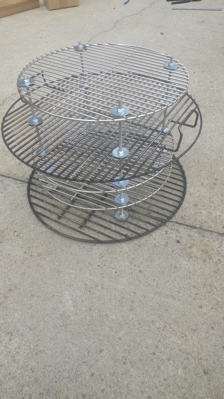 Weber Smokey Mountain Cooker modification to add three more racks