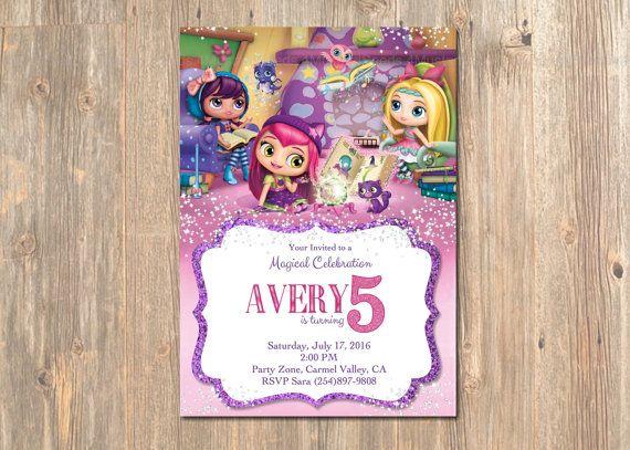 Little Charmers Birthday Invitation - Little Charmers' Party Invites - Invite - Invitation - Nick - Show - Jr. - Lavender - Posie - Hazel
