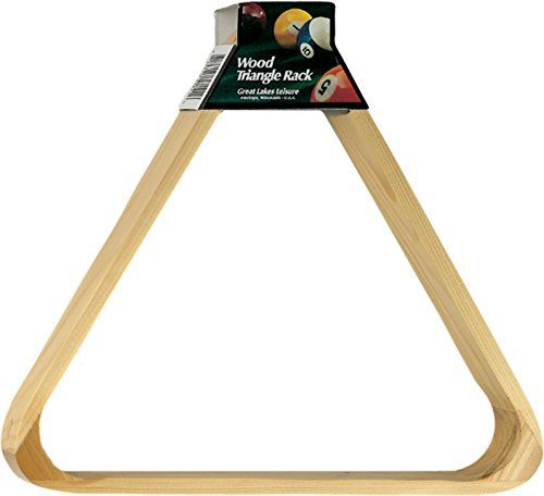 """Viper Billiard/Pool Table Accessory: 8-Ball Rack, Hardwood Triangle, Holds Standard 2-1/4"""" Sized Balls  Wooden billiard/pool 8-ball rack tightly racks your billiard balls  Designed with reinforced hardwood corners which provide a durable and stylish addition to your game room  Rounded edges allow this rack to slide easily, reducing cloth wear of your billiard table  Triangle-shaped rack holds standard 2-1/4"""" sized billiard balls"""