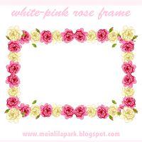 rózsa keret pink