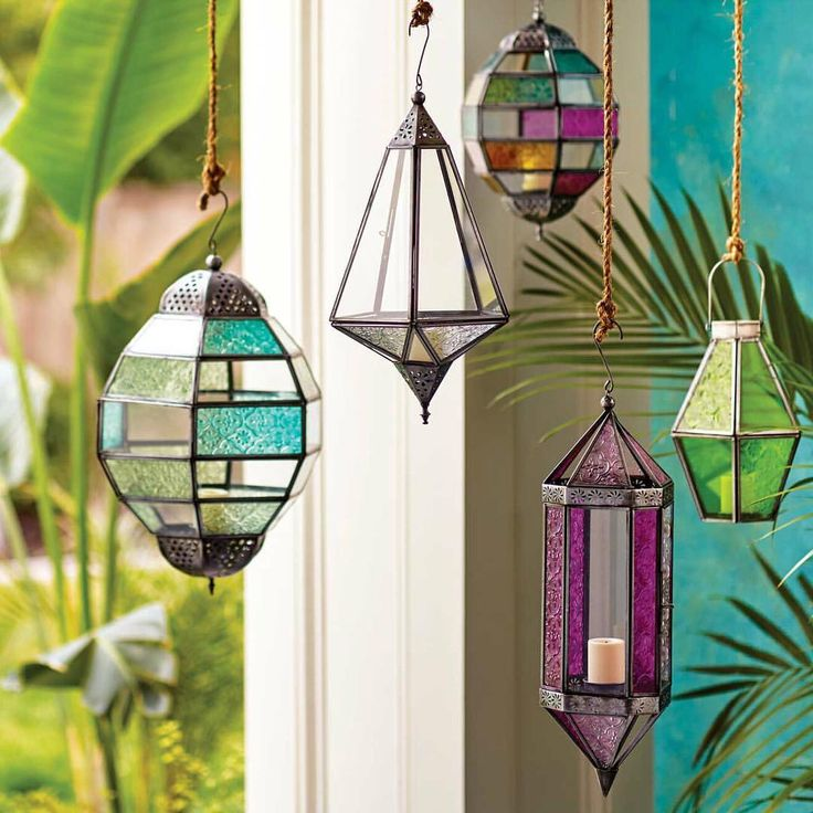 We traveled the world to find our hanging Raya Lantern Collection, handcrafted by artisans in India of glass and hand-punched iron with an antique zinc finish. (link in profile to #shop) #WorldMarket #HomeDecor
