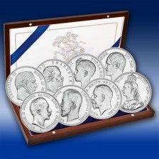 Achter-Set Silbermünzen Familien-Chronik der Queen Victoria