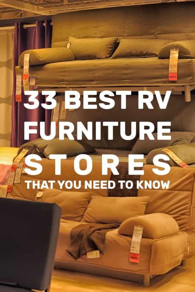 33 Rv Furniture Stores See The Full List Rv Furniture Rv Upgrades Rv