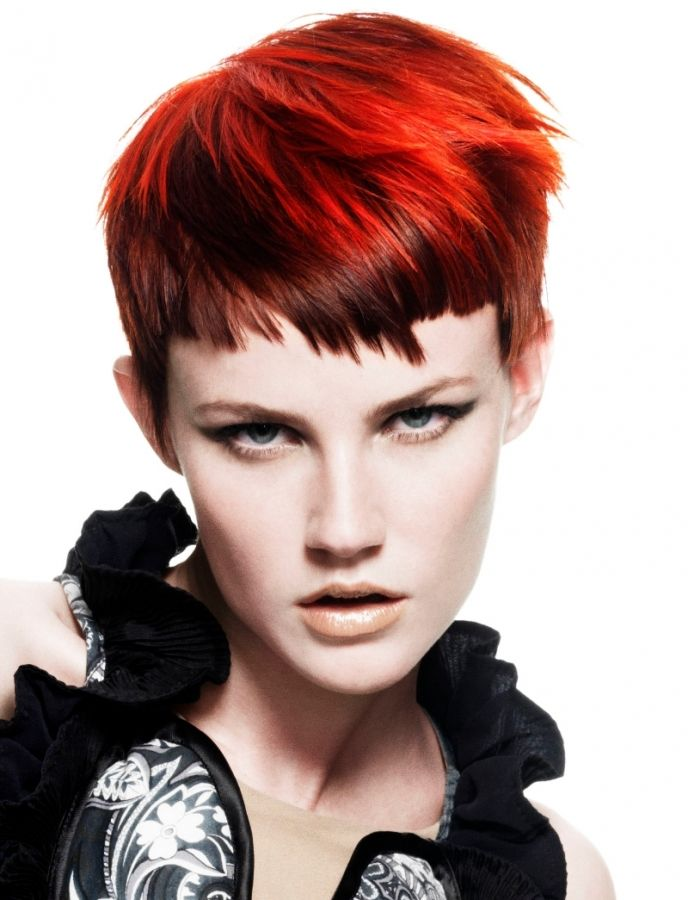 Choppy Pixie Haircut Creative Short Hair Style Ideas Hair Pinterest Creative Colors