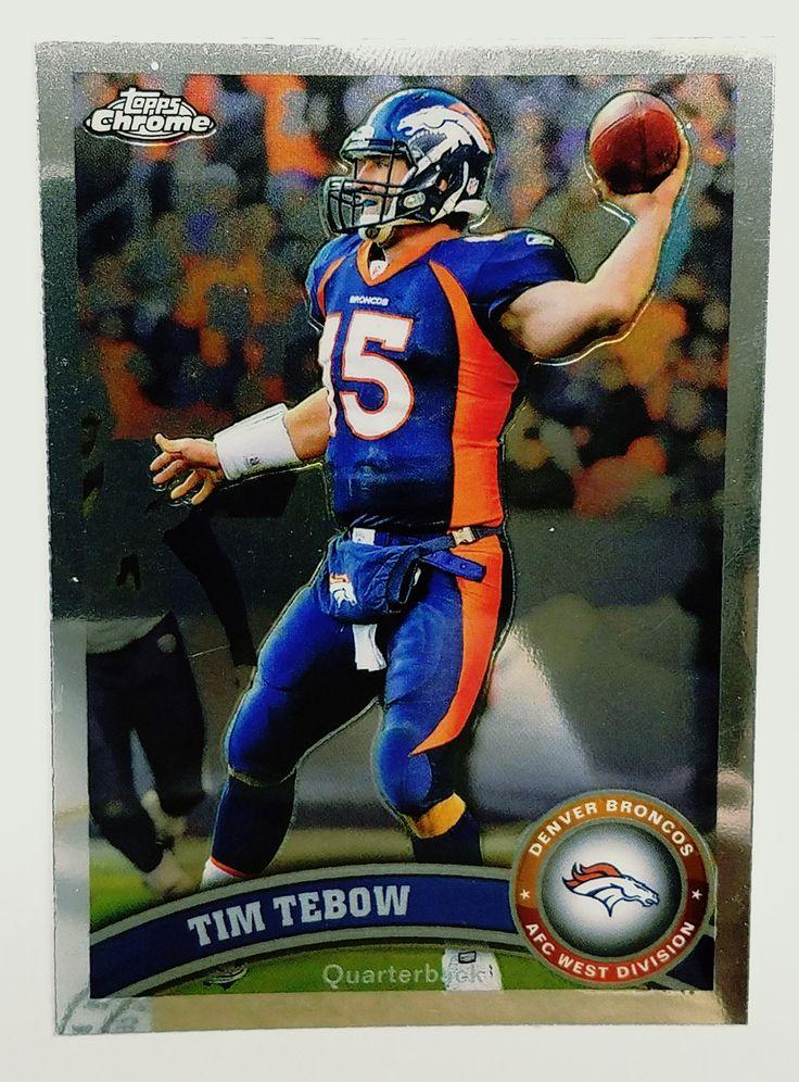 2011 Topps Chrome #148 Tim Tebow, Quarterback, Denver Broncos, Mets Baseball