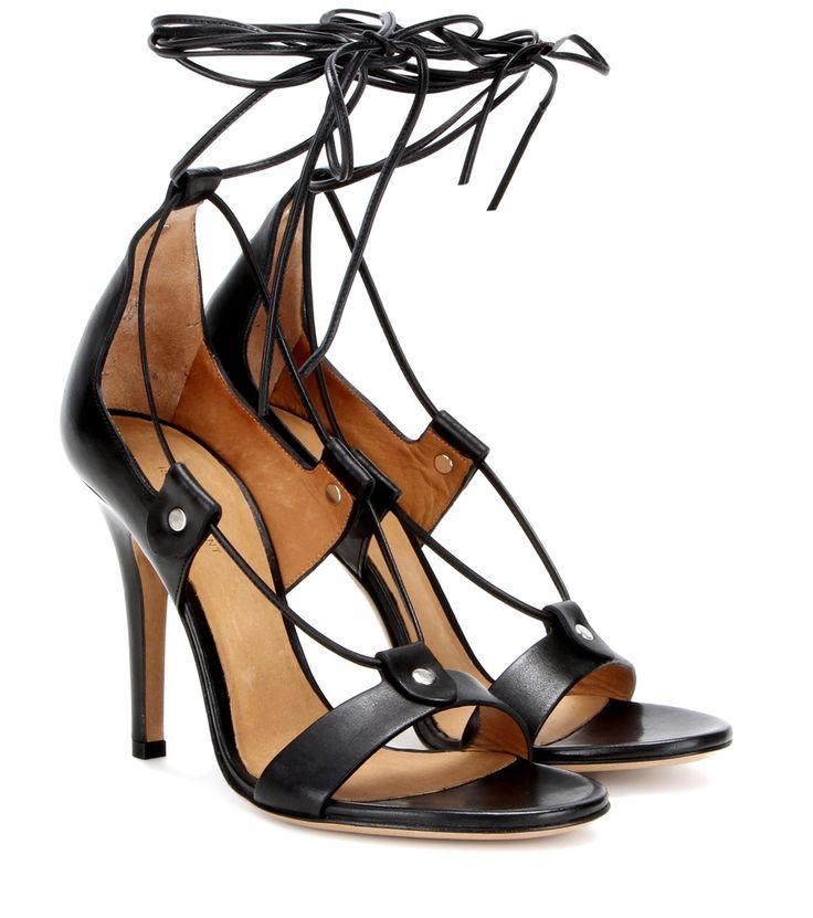 Schwarze Sandalen Anais aus Leder By Isabel Marant