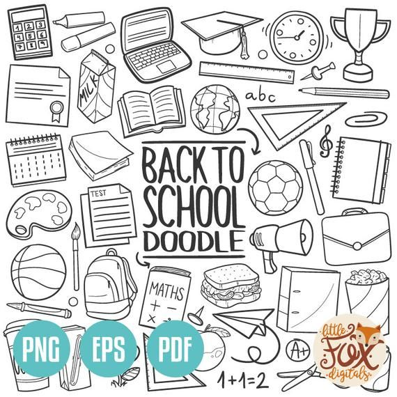 Back To School Themed Stickers Handmade