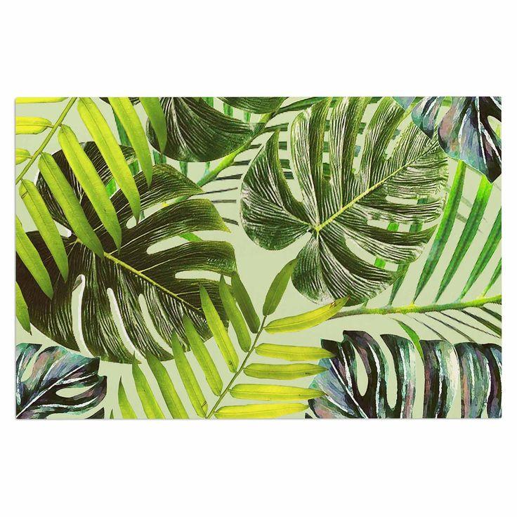"Alison Coxon ""Jungle Green"" Green Yellow Decorative Door Mat"