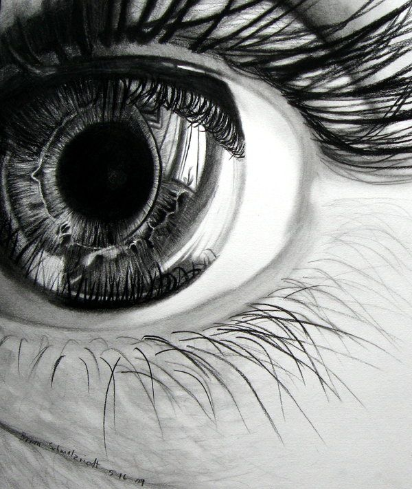 Captivating hyperrealistic pencil drawings of glistening eyes