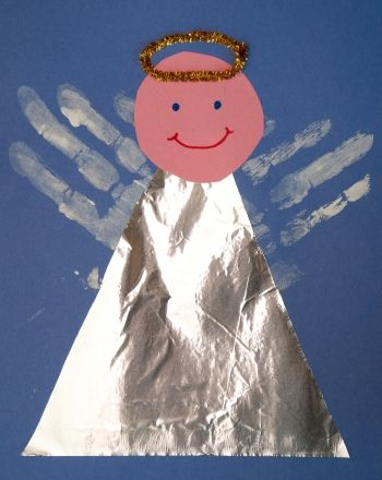 Activities: Handprint Angel - only use the child's picture as the face