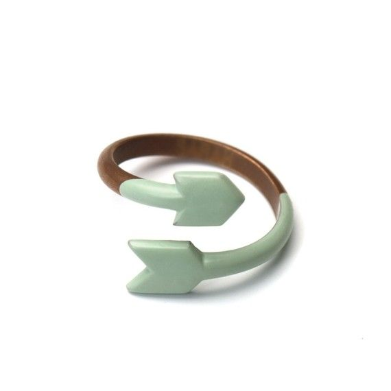 ARROW RING  Copper and dipped enamel  SEAFOAM by MijuAndYou, $24.00, #ring, #jewelry, #arrow