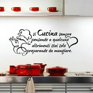 88 best Kitchen Wall Stickers images on Pinterest | Black, Cook ...
