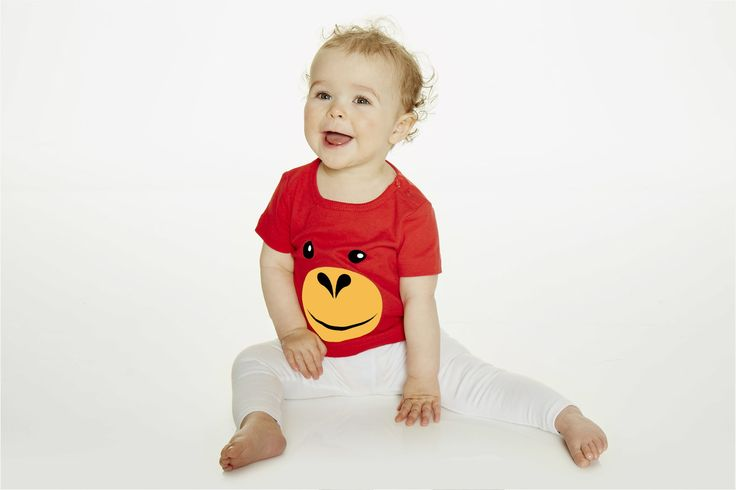 Orangutan, monkey t-shirt for kids and infants. Available now at www.reallywildchild.com. Really Wild Child. Made for little animals.