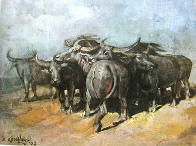 Basoeki Abdullah - Kawanan kerbau