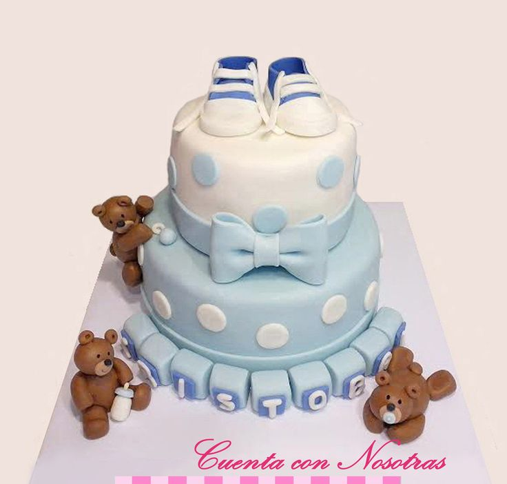 Torta Baby Shower Torta ositos Baby Shower Cake Teddy Bear Cake