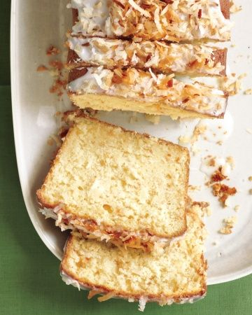 Coconut-Buttermilk Pound Cake and more at MarthaStewart.com