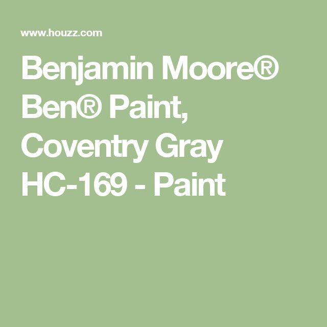 Benjamin Moore® Ben® Paint, Coventry Gray HC-169 - Paint