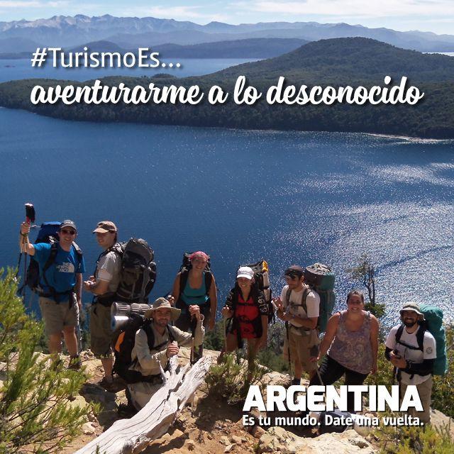 #Turismoes... Aventurarse a lo desconocido  #DiaMundialDelTurismo #Argentina #WTD2015 #ArgentinaEsTuMundo Date una vuelta!